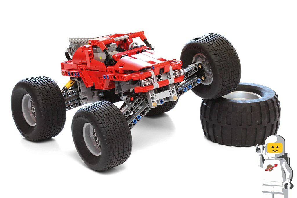 Lego Technic 42005 Monster Truck Mod Using The Lego