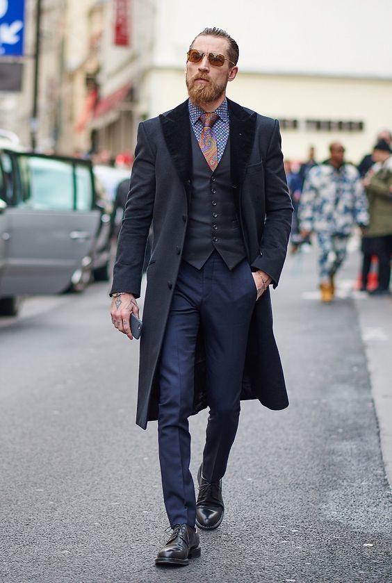 Justin O´Shea es uno de los iconos de moda para hombres y del street style masculino