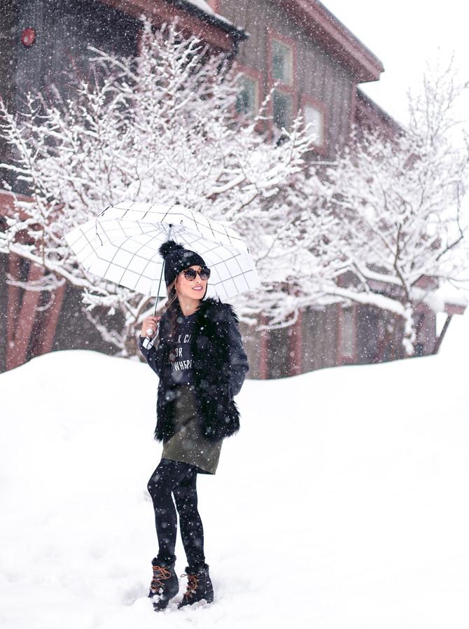how to wear a faux fur vest winter outfit ideas