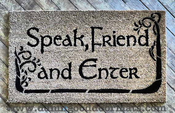 Geeky doormats by damn good doormats killer kitsch - Geeky doormats ...