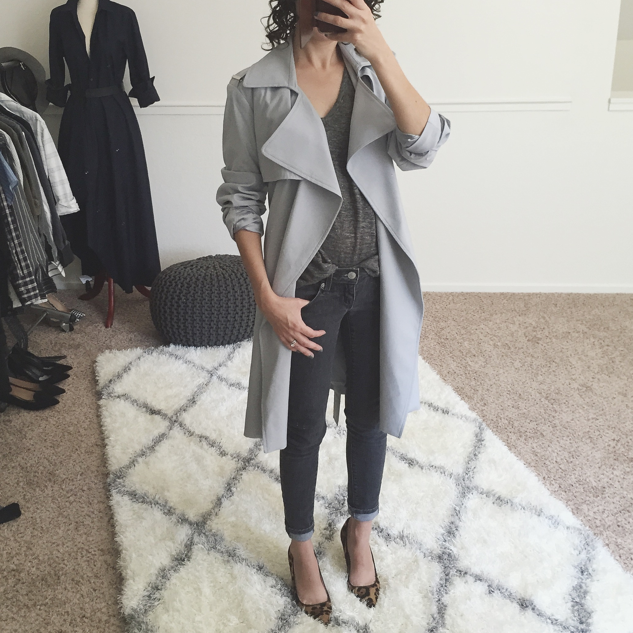 Fit Review Friday – Mango Drapey Trench vs. Banana Republic Petite