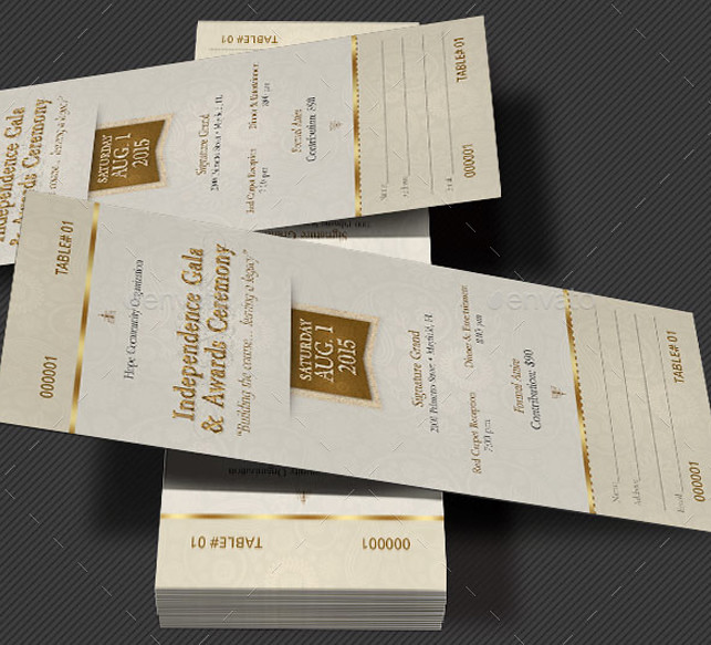 Independence Gala Ticket Template Preview1