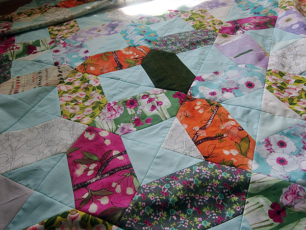 Vignette Lattice quilt top
