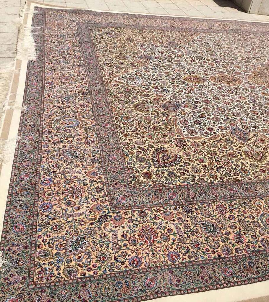 Persian Rug Mashhad Saber Sepahdari design Oversize 4x6 M - 13x20 feet