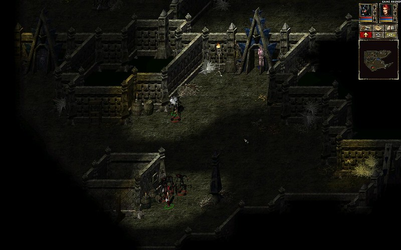 Act 3 Catacombs level 2, part 1 - stay behind doorway