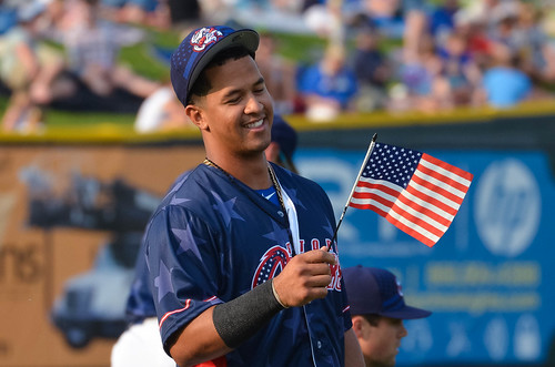 Cheslor Cuthbert checking out a flag | by Minda Haas Kuhlmann