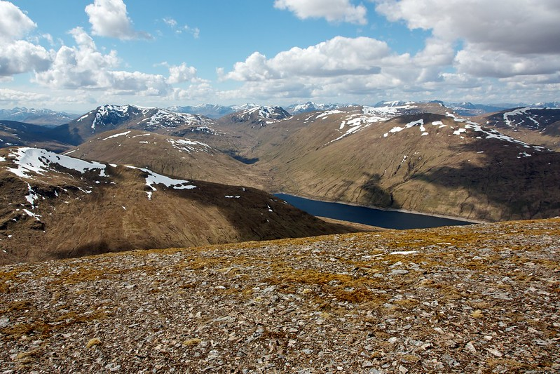 Bridge of Orchy hills and Loch Lyon from Beinn Heasgarnich
