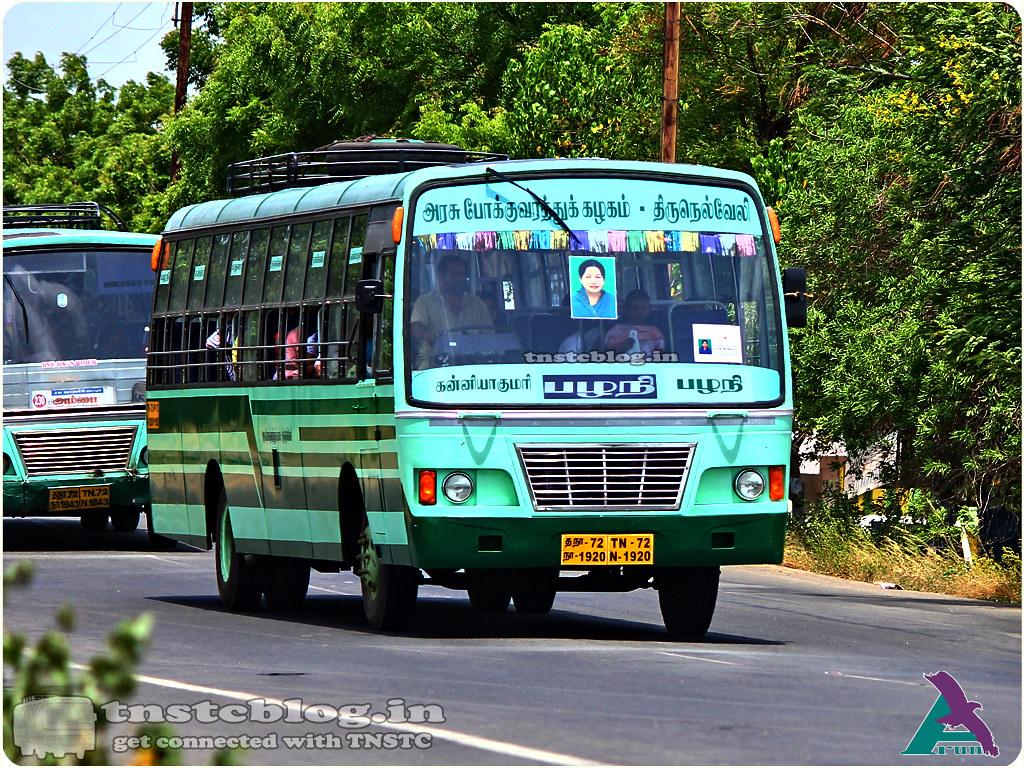 TN-72N-1920 of Kanyakumari Depot Route Kanyakumari - Palani via Nagercoil, Tirunelveli, Madurai, Ottanchatiram.