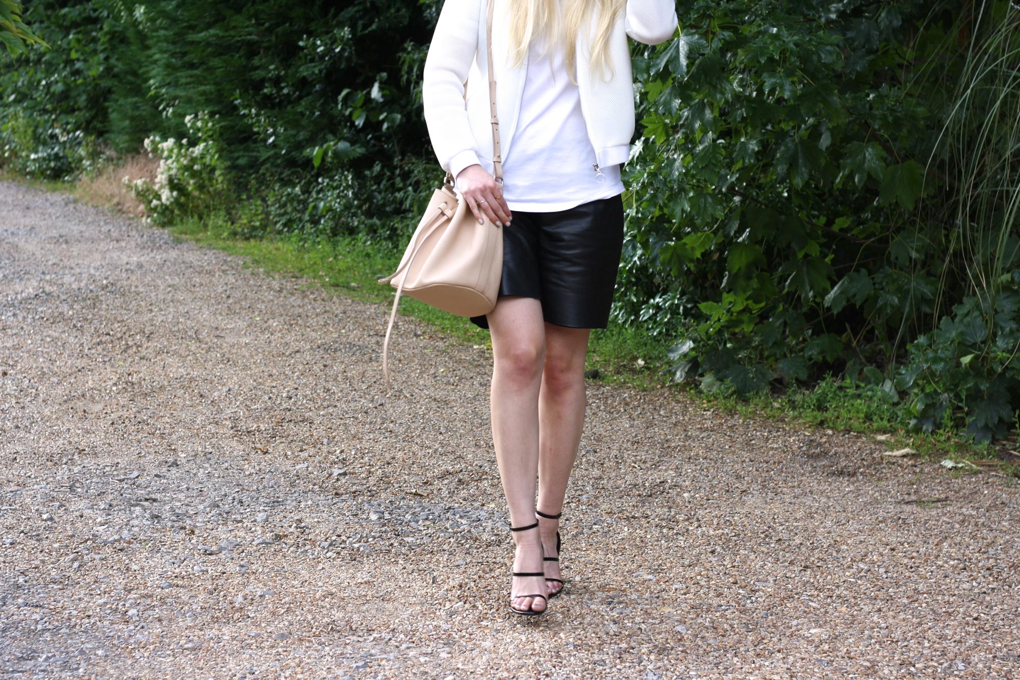 Topshop Boutique leather shorts