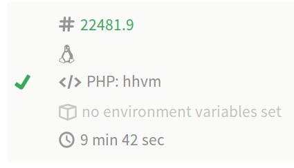Symfony 2.3 HHVM compatibility