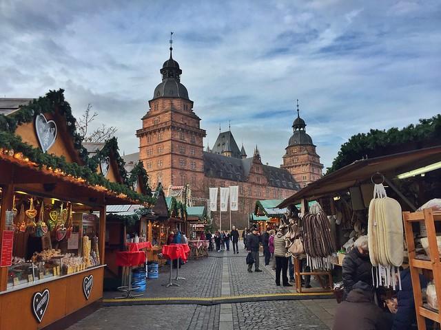 Mercado de Navidad de Aschaffenburg (Norte de Baviera Alemania)