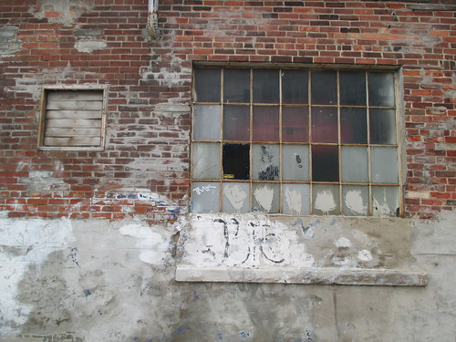 Old warehouse windows