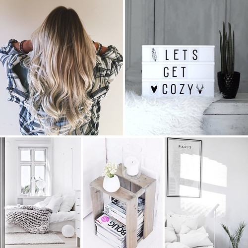 HomeDecorInspoObsessedNow, obsessed with right now, pakkomielteenä juuri nyt, home decor, kodin sisustus, inspiration, pinterest, lifestyle, decor, sisustus, koti, home, white, valkoinen, cozy, curls, kiharat, blonde balayage ombre hair, ombre hiukset vaaleat, lightbox valotaulu, tekstit, paksut neulotut viltit, chunky knitted blankets, vanhat puiset laatikot, old wooden boxes, pariisi karttajuliste, paris map poster,