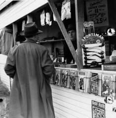 Newsstand near Lockheed -- early 1940s