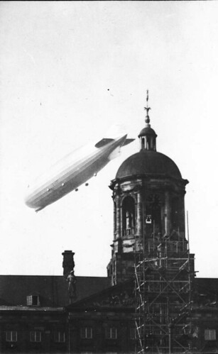 Zeppelin over the Palace on the Dam, Amsterdam | by blacque_jacques