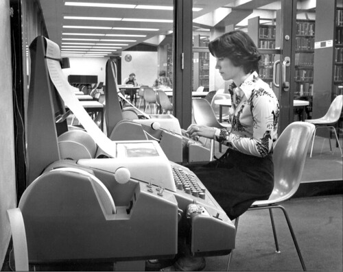 Student in the keypunch lab | by Colorado College Tutt Library