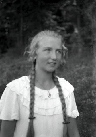 Blonde Girl With Braids The Grandfather Of A Friend Left