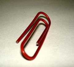 red paperclip | by aka Kath