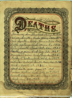 Deaths | by Valerie's Genealogy Photos