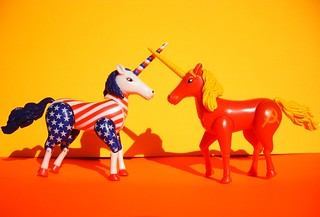 Commuist Vs Capitalist Unicorn | by zoomar