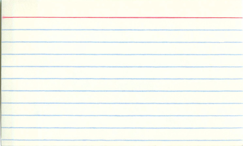 Blank index card for all you diy ers out there here 39 s for 5 by 8 index card template