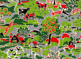 vintage fabric - farm | by kmel