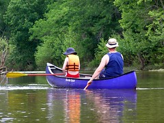 Dylan and Dad Canoe Kings River | by FreeWine