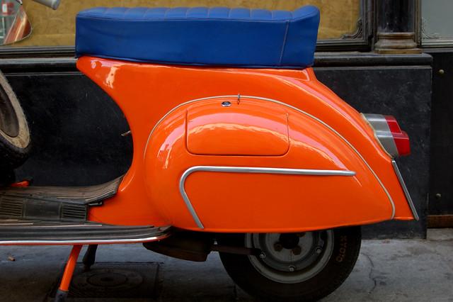Orange Vespa Zeta Flickr