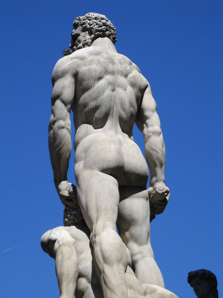 Hercules & Cacus statue   The lesser-viewed side of