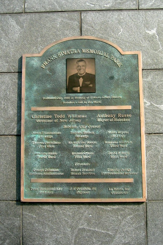 NJ - Hoboken: Frank Sinatra Memorial Park - plaque | Flickr