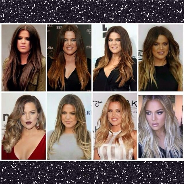 Khloe Kardashian Hair Transformation Brown To Platinum B