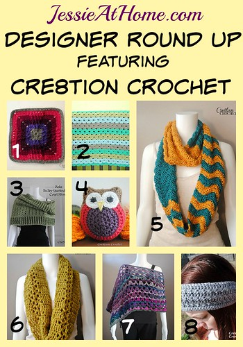 Cre8tion Crochet Pattern Round Up from Jessie At Home