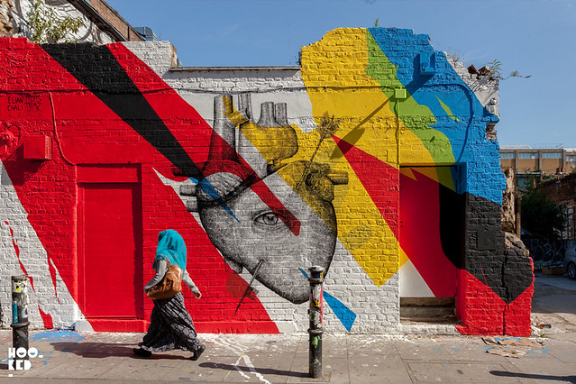 Alexis Diaz & Elian collaborate on a new London Mural
