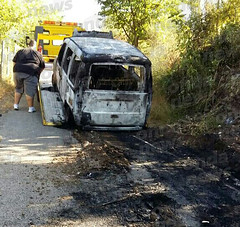 incendio furgone sicignano 01