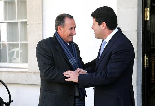 17-Feb-2017 Visita a Gibraltar del alcalde de Chiclana, José María Román y rueda de prensa con Fabián Picardo