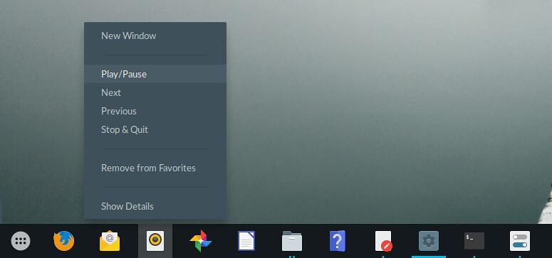 Панель запуска в GNOME