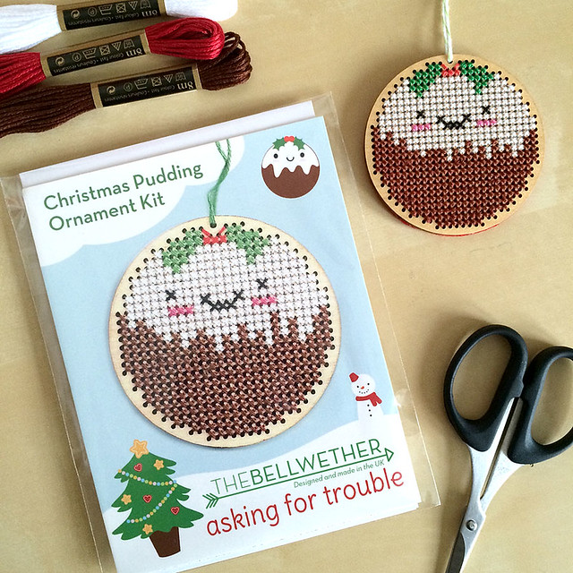 Christmas Pudding Ornament Cross Stitch Kits