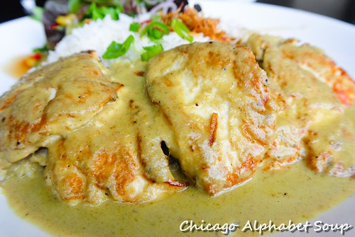 Grilled Chicken in Green Curry