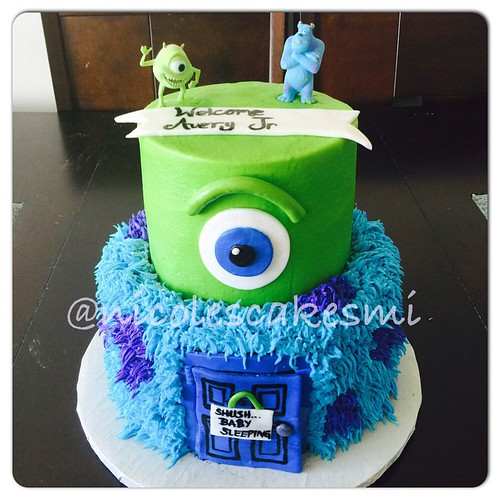 monster inc baby shower cake nicolescakesmi detroitbake flickr