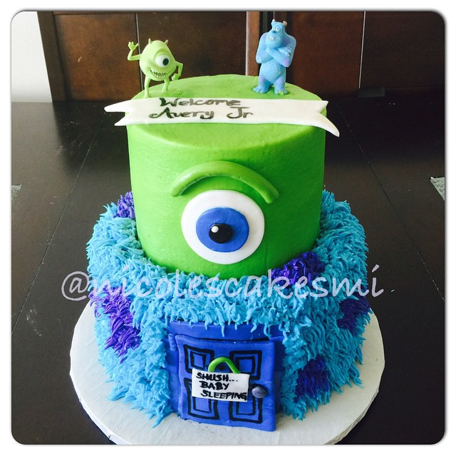 Monster Inc Baby Shower Cake Nicolescakesmi Detroitbake Flickr