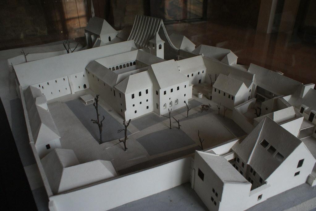 Maquette du couvent Saint Agnès à Prague.