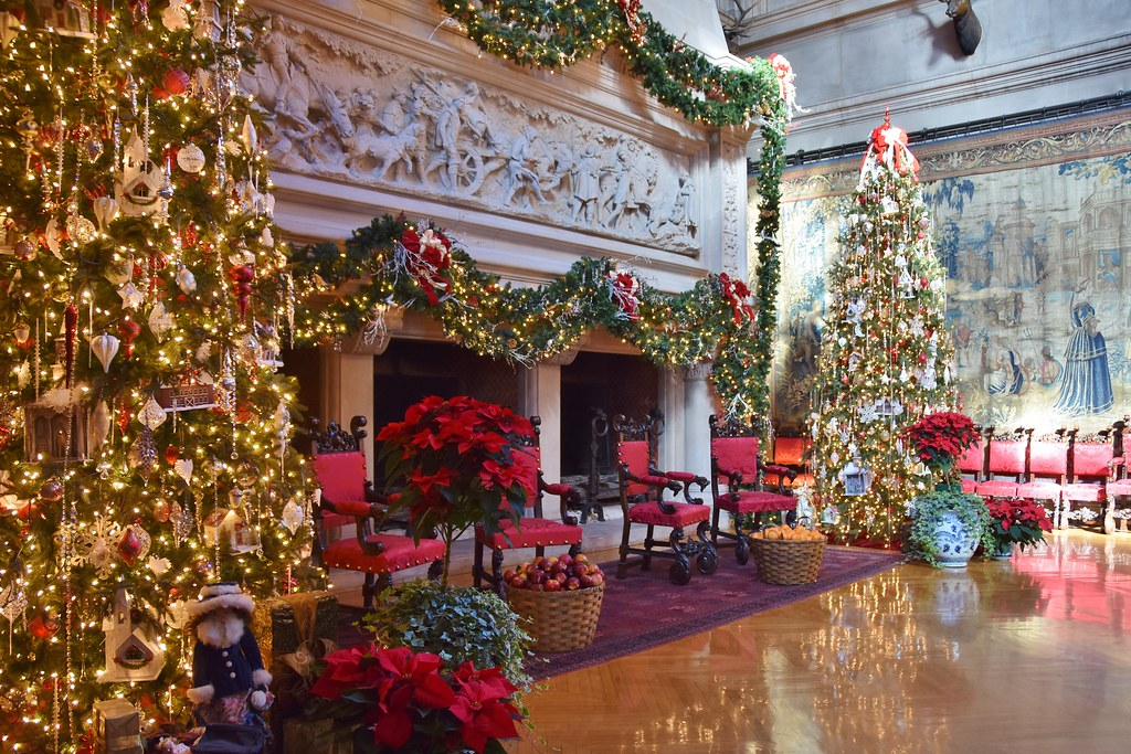 Biltmore Estate Great Hall with Christmas decorations | Flickr