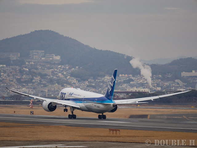 Itami Airport 2017.1.31 (26) JA816A / ANA's B787-8