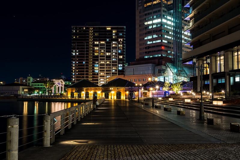 神戸ハーバーウォークの夜景