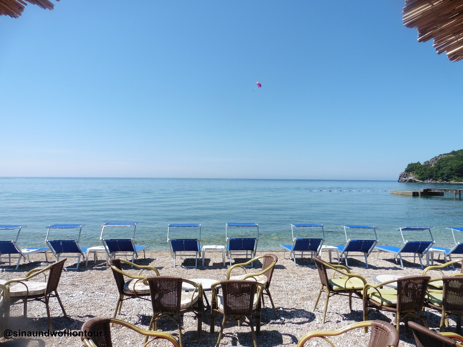 Budva in Montenegro, Beach Cafe
