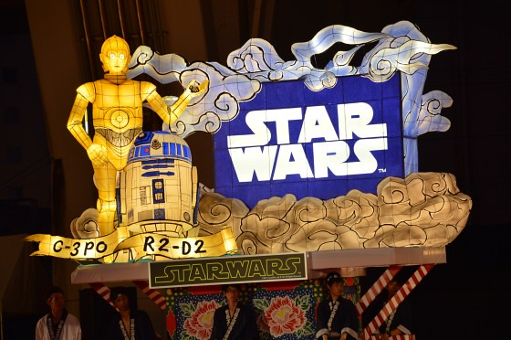 Aomori Nebuta Festival - Star Wars Floats C-3PO & R2-D2