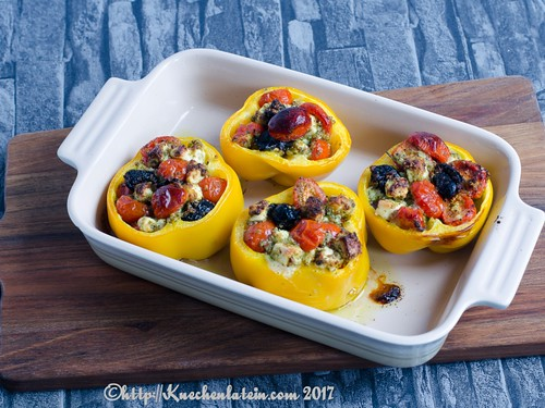 Baked Peppers filled with Tomatoes and Feta (2)