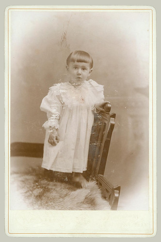 Cabinet Card Child on chair