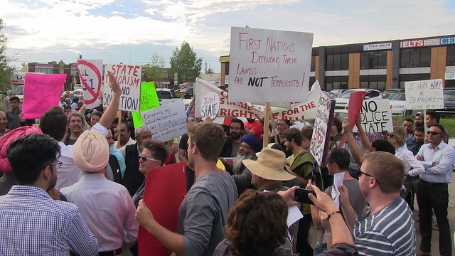 Bill C-51 Protest At Justin Trudeau Event