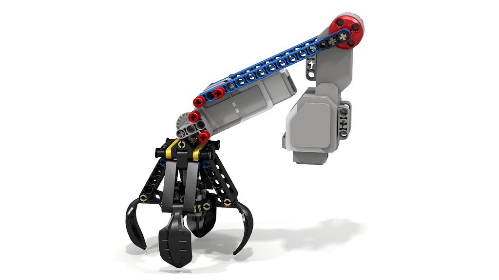 Lego 42006 excavator claw with ev3 motors if you mate for Ev3 medium motor arm